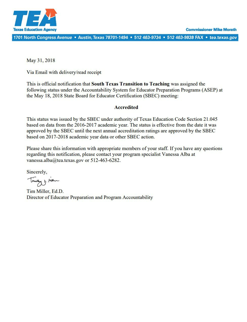 Announcements South Texas Transition To Teaching